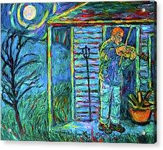 Fiddling At Midnight's Farm House Acrylic Print