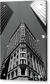 Fidelity Building In Black And White Baltimore Acrylic Print
