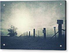 Field Beyond The Fence Acrylic Print