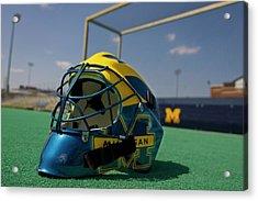 Field Hockey Helmet Acrylic Print