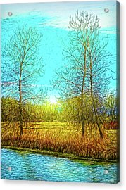 Field In Morning Light Acrylic Print