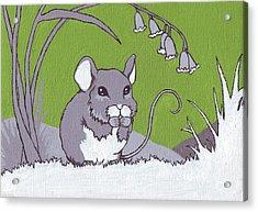 Field Mouse Acrylic Print by Sarah Webb