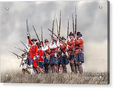 Field Of Battle The Charge Acrylic Print by Randy Steele