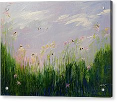 Field Of Bee's Acrylic Print by Sue Furrow