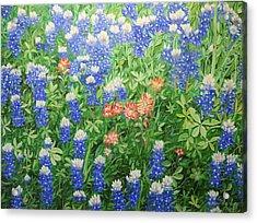 Field Of Blue Acrylic Print