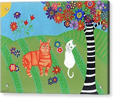 Field Of Cats And Dreams Acrylic Print