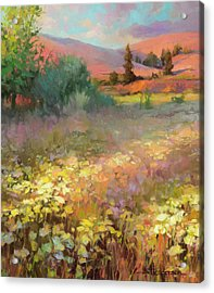 Acrylic Print featuring the painting Field Of Dreams by Steve Henderson
