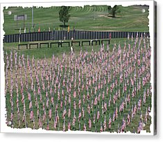 Acrylic Print featuring the digital art Field Of Flags - Gotg Arial by Gary Baird