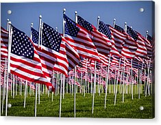 Field Of Flags For Heroes Acrylic Print
