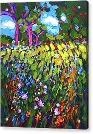 Field Of Fowers Acrylic Print