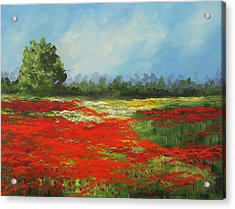 Field Of Poppies Viii Acrylic Print