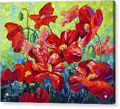 Field Of Red Poppies II Acrylic Print