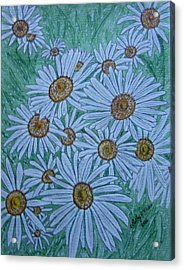 Acrylic Print featuring the painting Field Of Wild Daisies by Kathy Marrs Chandler