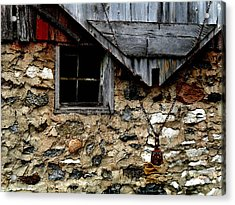 Field Stone Barn Acrylic Print