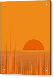 Field Sunset Acrylic Print