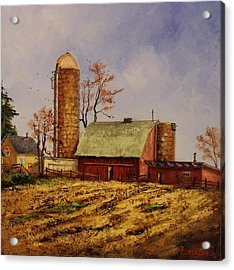 Fields Ready For Fall Acrylic Print