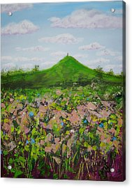 Fields To Glastonbury Tor Acrylic Print
