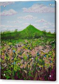 Fields To Glastonbury Tor Acrylic Print