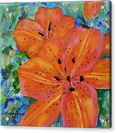 Acrylic Print featuring the painting Fierce Tiger by Judith Rhue