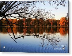 Fiery Colors On The Lake Acrylic Print