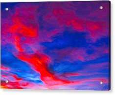Fiery Dragon Floating Acrylic Print