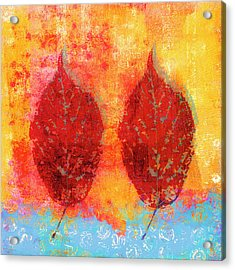 Fiery Fall Color Cherry Leaves Acrylic Print