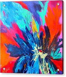 Fiery Flower Acrylic Print by Mary-Lynn Bastian