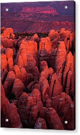 Acrylic Print featuring the photograph Fiery Furnace by Dustin LeFevre