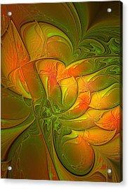 Fiery Glow Acrylic Print by Amanda Moore