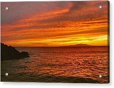 Fiery Makena Sunset Acrylic Print by Stephen  Vecchiotti