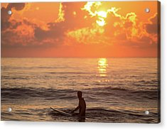 Fiery Morning Acrylic Print by AM Photography