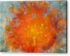 Fiery Sunset Abstract Painting Acrylic Print