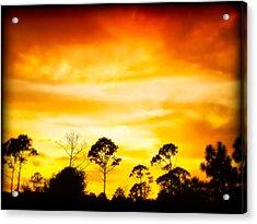 Fiery Sunset Acrylic Print by Rich Leighton