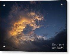Fiery Wave Acrylic Print