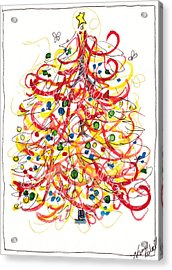 Fiesta Christmas Tree Acrylic Print by Michele Hollister - for Nancy Asbell