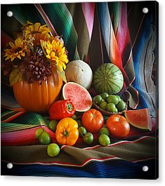 Acrylic Print featuring the painting Fiesta Fall Harvest by Marilyn Smith