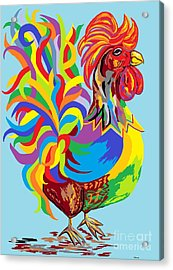 Fiesta Rooster Acrylic Print by Eloise Schneider