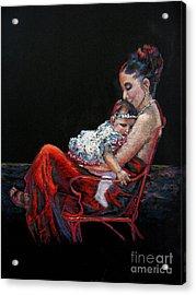Fiesta Siesta Acrylic Print by Shirley Leswick