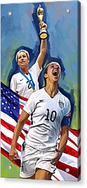 Fifa World Cup U.s Women Soccer Carli Lloyd Abby Wambach Artwork Acrylic Print by Sheraz A