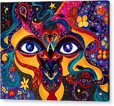 Acrylic Print featuring the painting All Seeing by Marina Petro