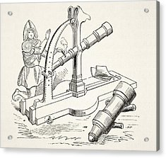 Fifteenth Century Canon. From The Acrylic Print by Vintage Design Pics