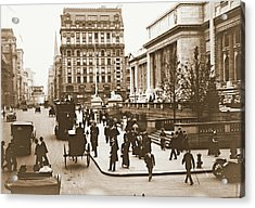 Fifth Avenue And New York City Public Library 1908 Acrylic Print by Padre Art