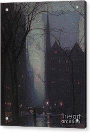 Fifth Avenue At Twilight Acrylic Print by Lowell Birge Harrison