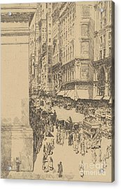 Fifth Avenue, Noon, 1916  Acrylic Print