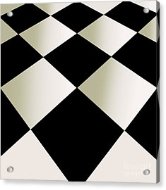 Fifties Kitchen Checkerboard Floor Acrylic Print by Mindy Sommers