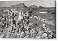 Fighting Mac And The Highland Brigade Acrylic Print by Vintage Design Pics