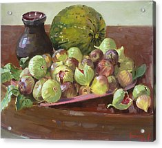 Figs And Cantaloupe Acrylic Print by Ylli Haruni