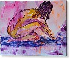 Figurative Abstract Nude 7 Acrylic Print