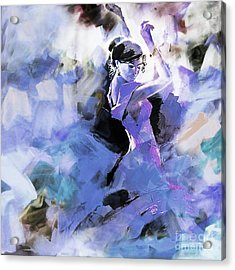 Acrylic Print featuring the painting Figurative Dance Art 509w by Gull G