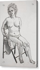 Acrylic Print featuring the drawing Figure Drawing by Jean Haynes